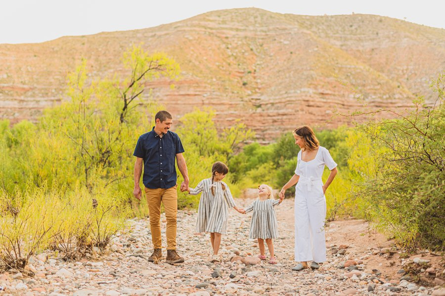 Payne Family: Verde Valley Family Photographer walking together