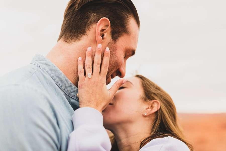 Steve's Surprise Horseshoe Bend Proposal engagement rings
