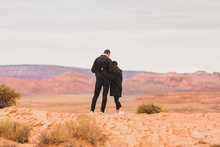 Steve's Surprise Horseshoe Bend Proposal right before the big moment