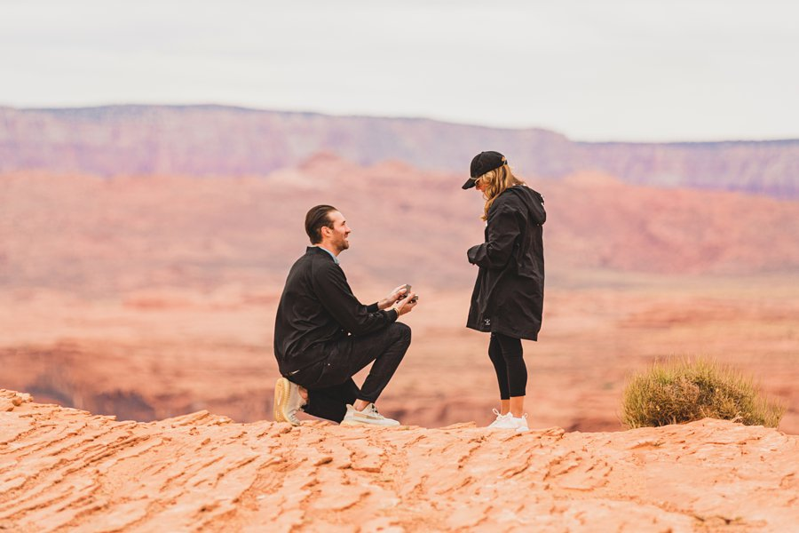 Steve's Surprise Horseshoe Bend Proposal how to plan the perfect time How to Shoot a Surprise Proposal