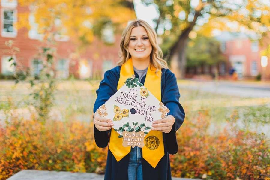 Alyssa: Northern Arizona University Portraits cap and gown