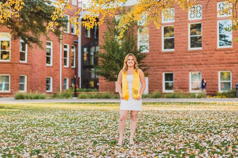 Alyssa: NAU Graduation Photographer on campus in autumn