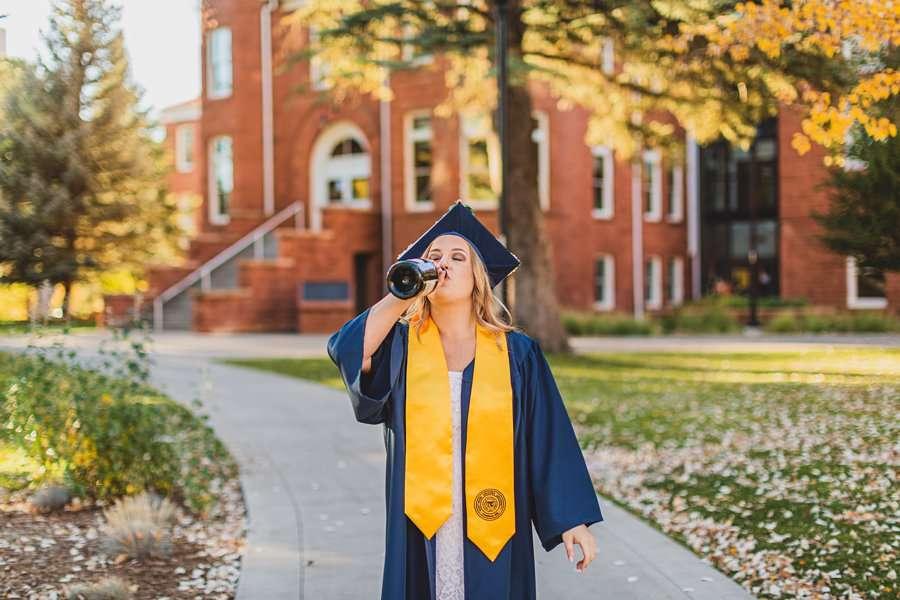 Alyssa: NAU Graduation Photographer cheers!