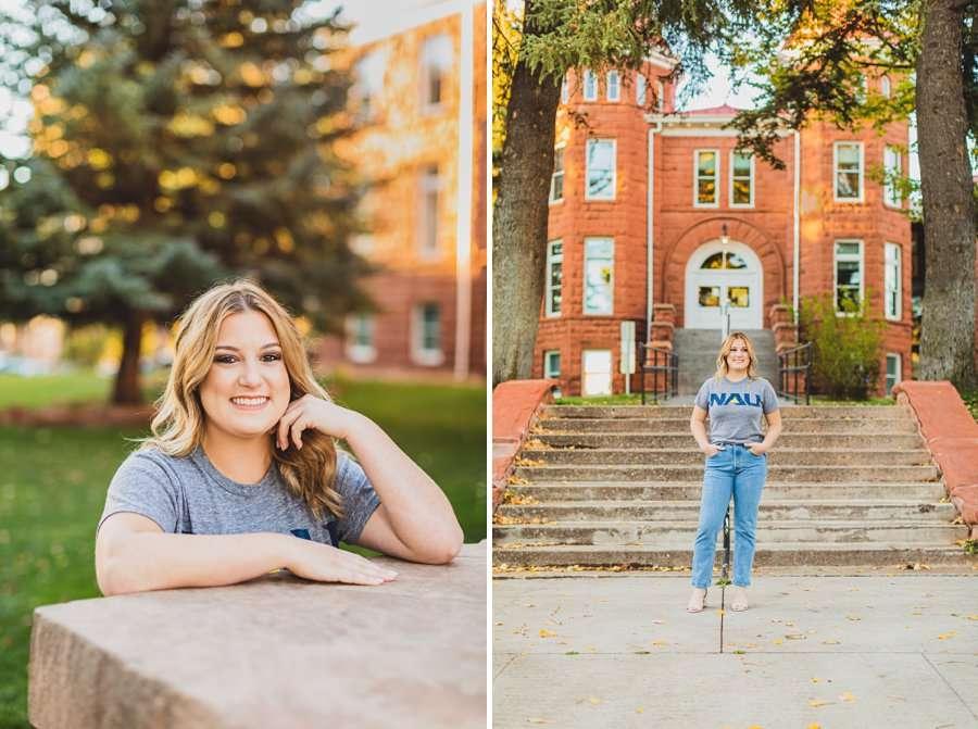 Alyssa: Northern Arizona University Portraits on campus