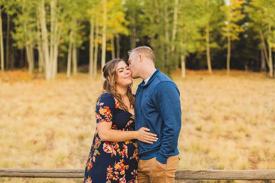 Ben and Alexandra: Arizona Autumn Portrait Sessions kisses