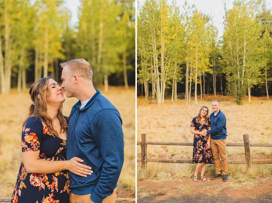 Ben and Alexandra: Arizona Autumn Portrait Sessions aspen trees