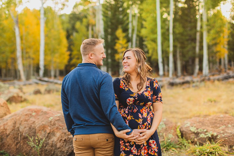 Ben and Alexandra: Arizona Autumn Portrait Sessions in love