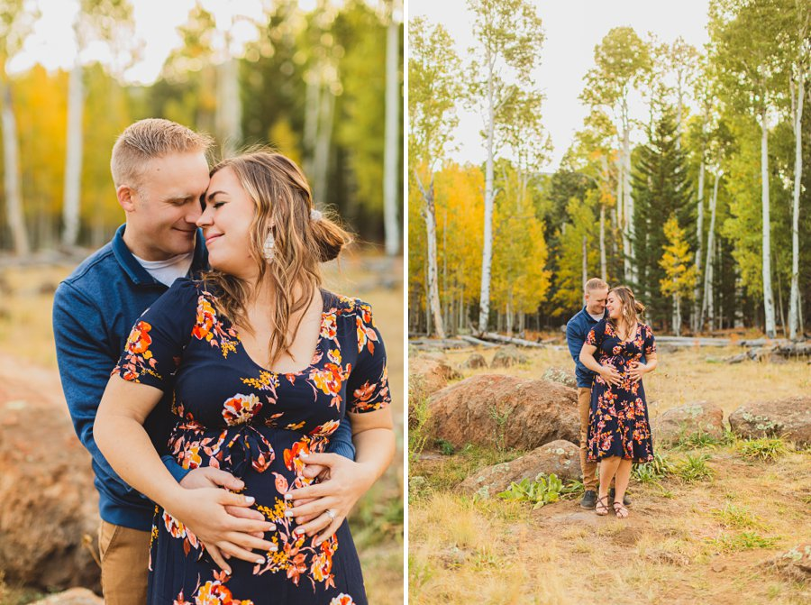 Ben and Alexandra: Arizona Autumn Portrait Sessions aspens