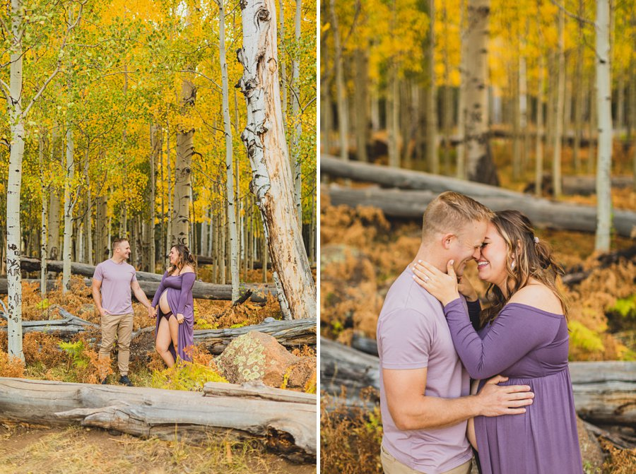 Ben and Alexandra: Flagstaff Autumn Maternity Photography happiness