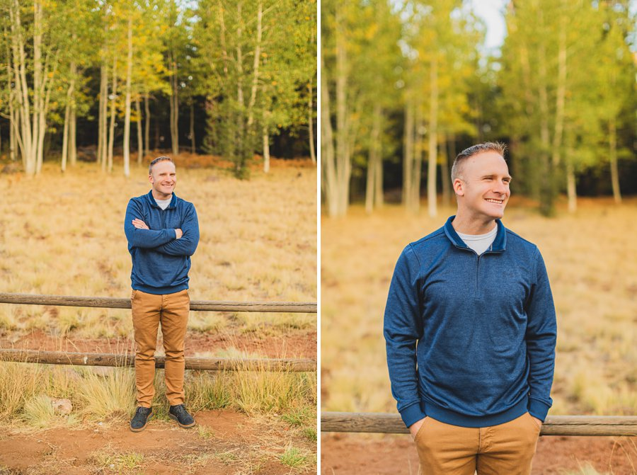 Ben and Alexandra: Flagstaff Autumn Maternity Photography husband