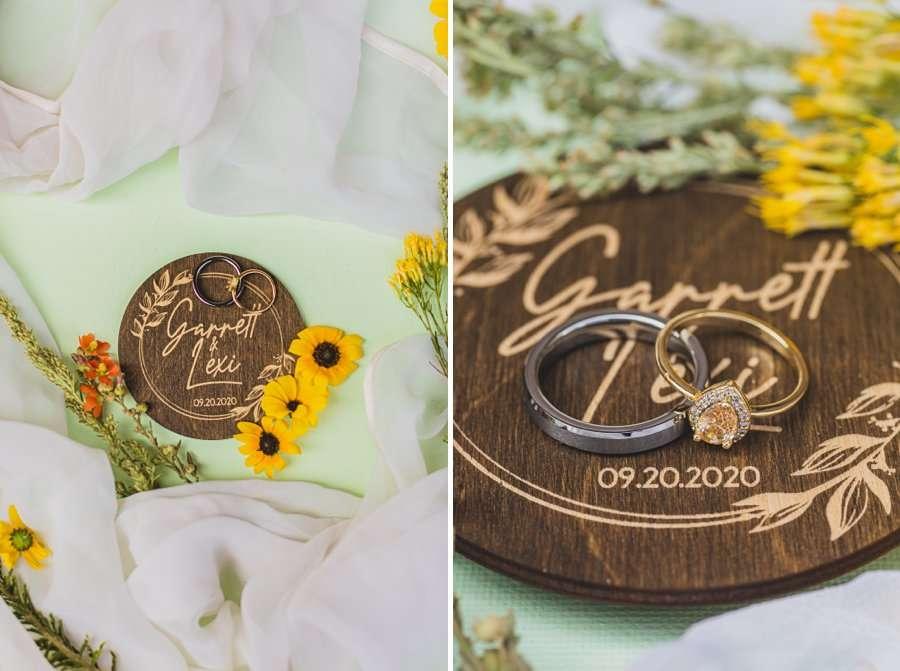Lexi and Garrett: Flagstaff Meadow Mountain Wedding macro ring shots