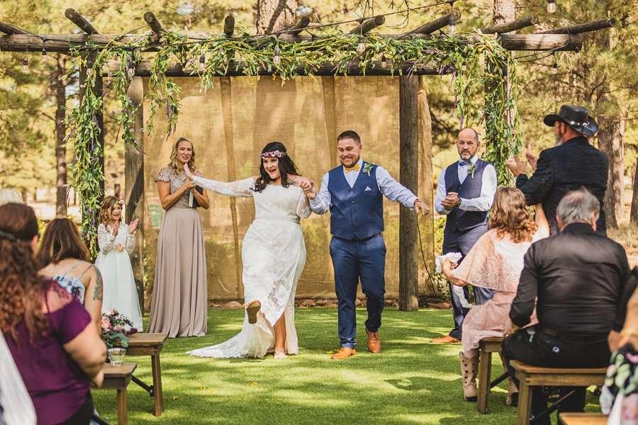 Lexi and Garrett: Northern Arizona Wedding Venues celebrating