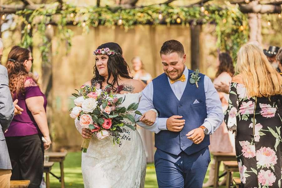 Lexi and Garrett: Northern Arizona Wedding Venues the mr and mrs