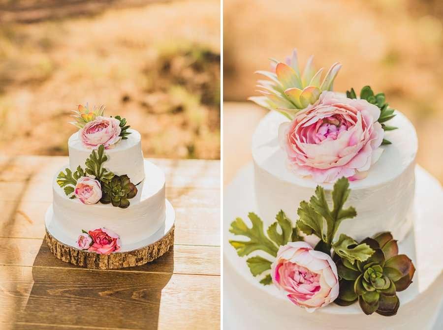 Lexi and Garrett: Northern Arizona Elopements wedding cake