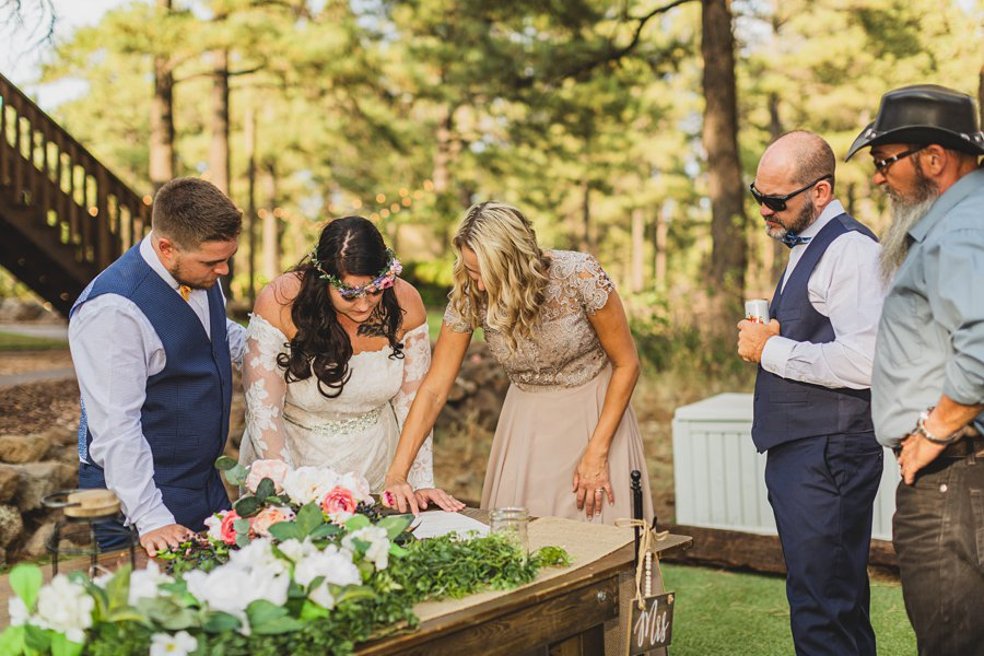 Lexi and Garrett: Northern Arizona Elopements signing license
