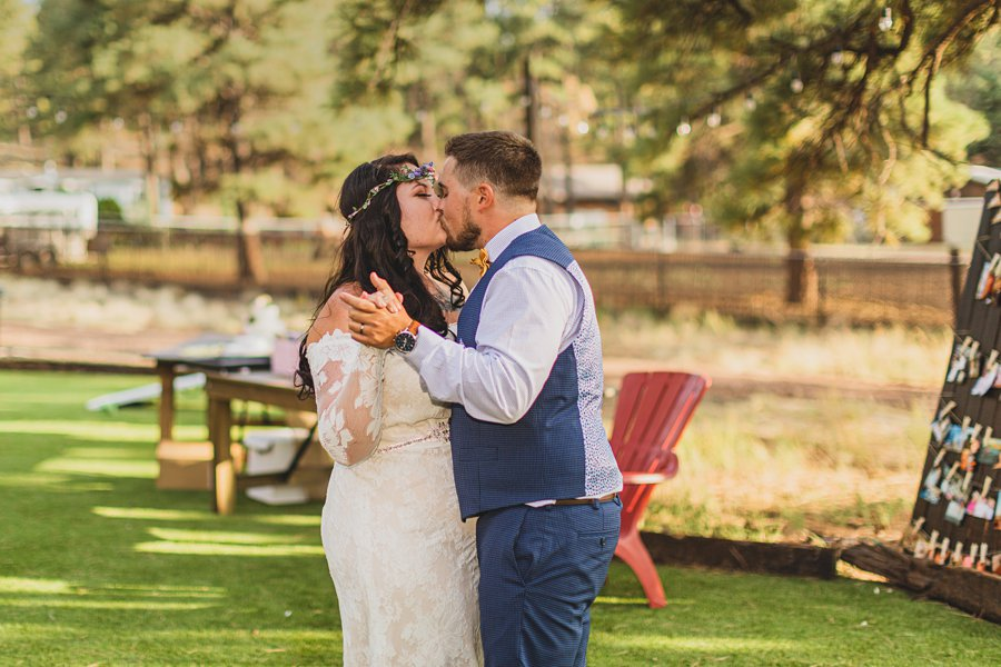 Lexi and Garrett: Northern Arizona Elopements the first dance