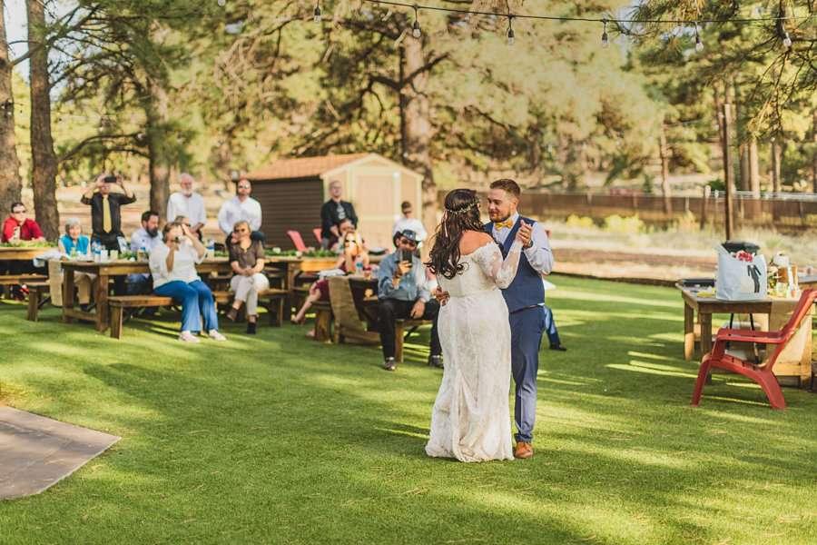 Lexi and Garrett: Northern Arizona Elopements bride groom first dance