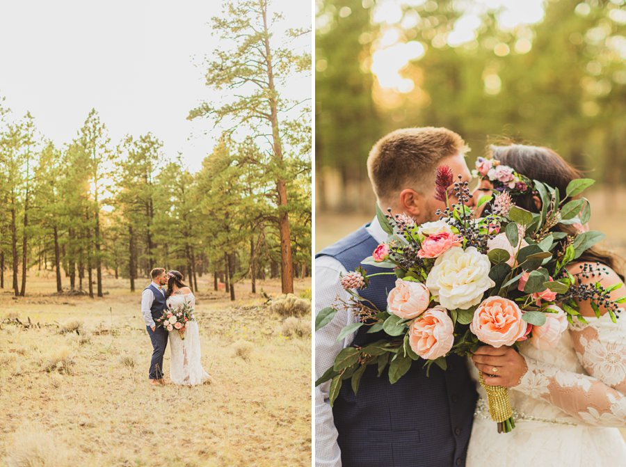 Lexi and Garrett: Northern Arizona Elopements bride and groom formal poses