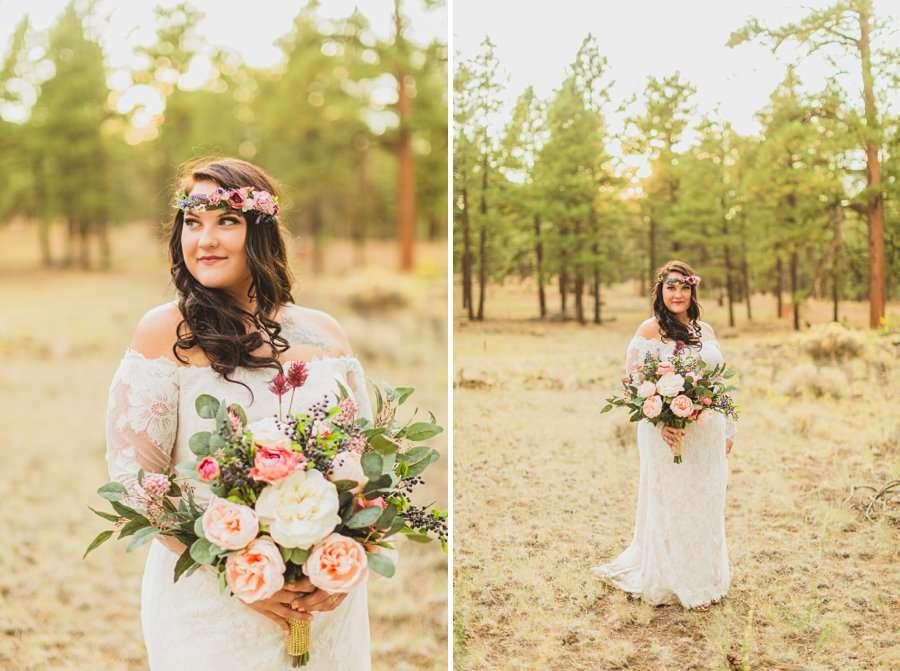 Lexi and Garrett: Northern Arizona Elopements bride details