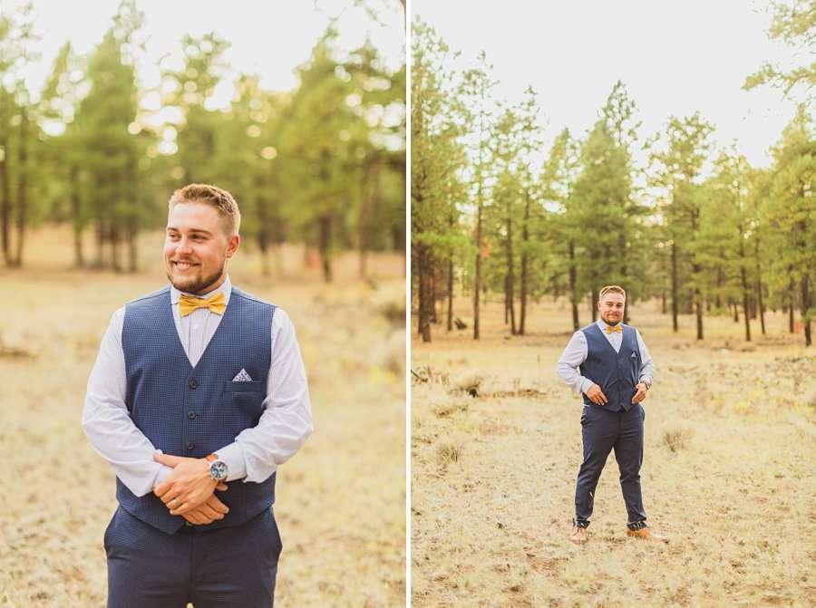 Lexi and Garrett: Northern Arizona Elopements groom details