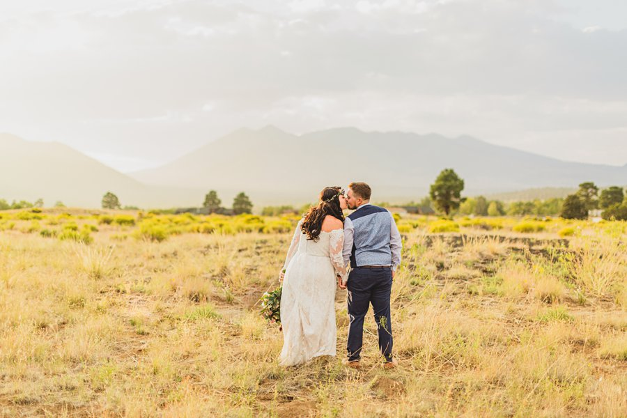 Lexi and Garrett: Northern Arizona Elopements couple in the meadow