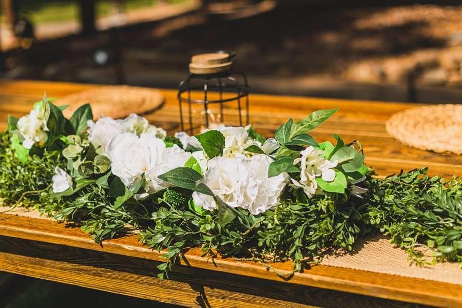 Lexi and Garrett: Flagstaff Meadow Mountain Wedding reception decorations