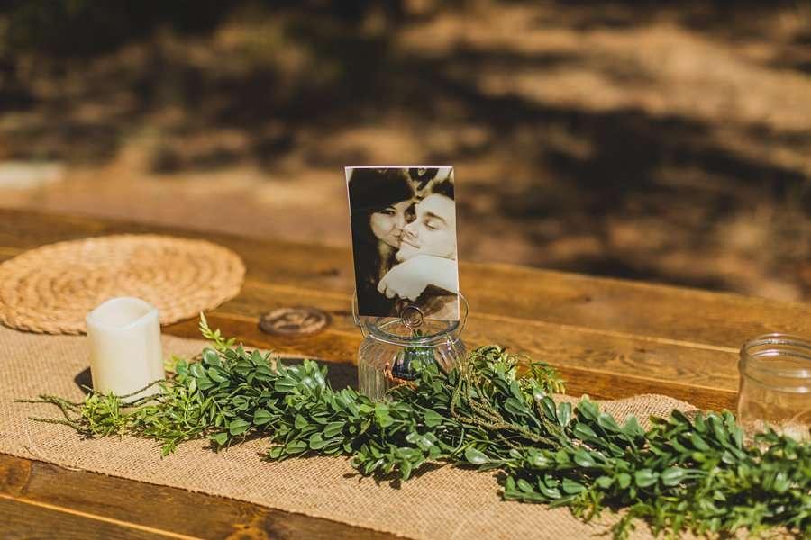 Lexi and Garrett: Flagstaff Meadow Mountain Wedding table setting