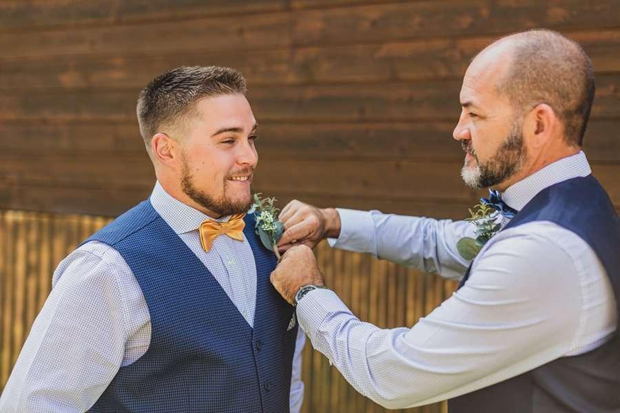 Lexi and Garrett: Flagstaff Meadow Mountain Wedding groom getting ready