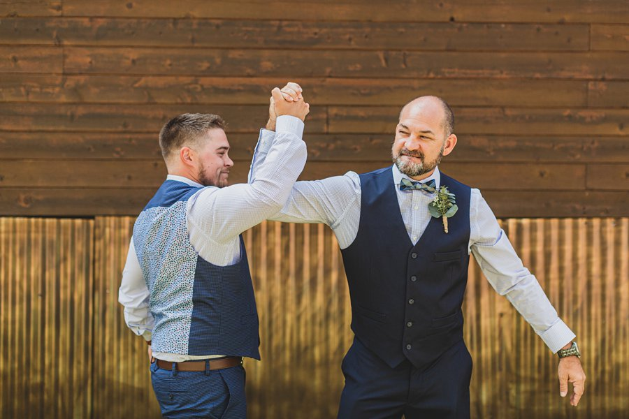 Lexi and Garrett: Flagstaff Meadow Mountain Wedding groom and dad