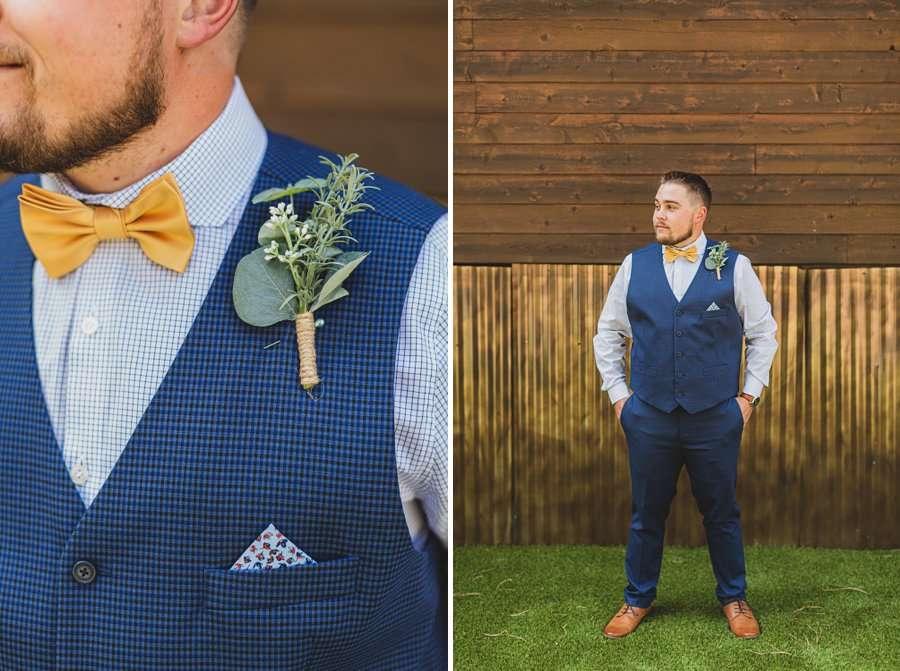 Lexi and Garrett: Flagstaff Meadow Mountain Wedding the groom details