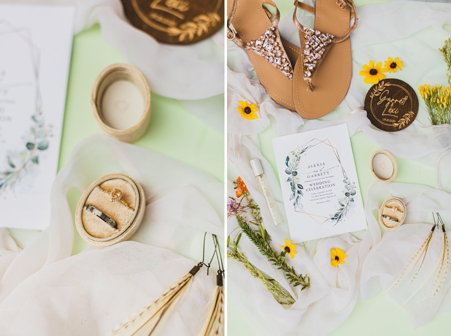 Lexi and Garrett: Flagstaff Meadow Mountain Wedding bride details