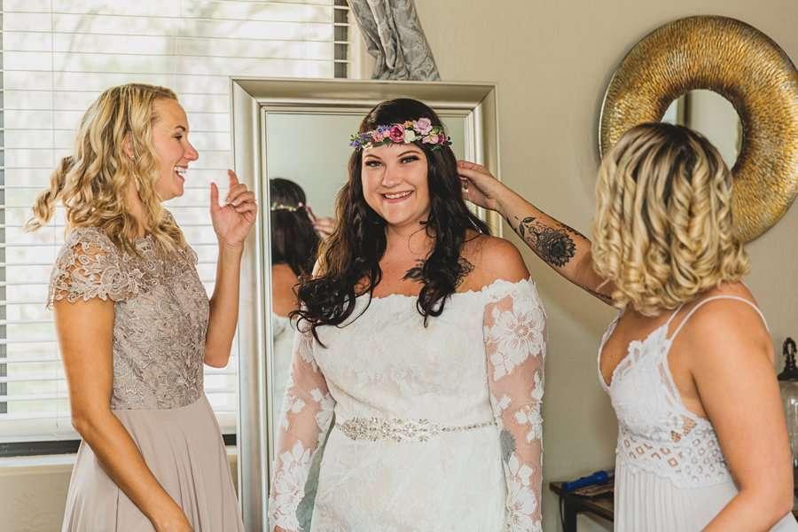 Lexi and Garrett: Flagstaff Meadow Mountain Wedding the bride getting ready