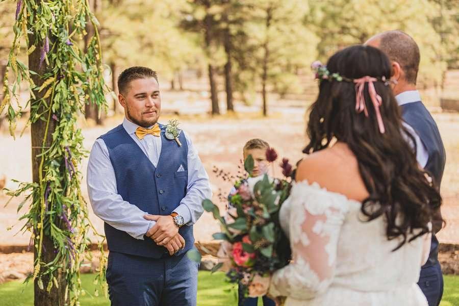 Lexi and Garrett: Northern Arizona Wedding Venues grooms