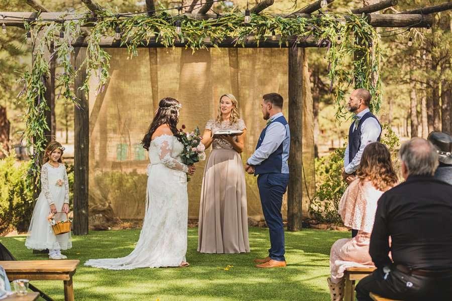 Lexi and Garrett: Northern Arizona Wedding Venues ceremony site