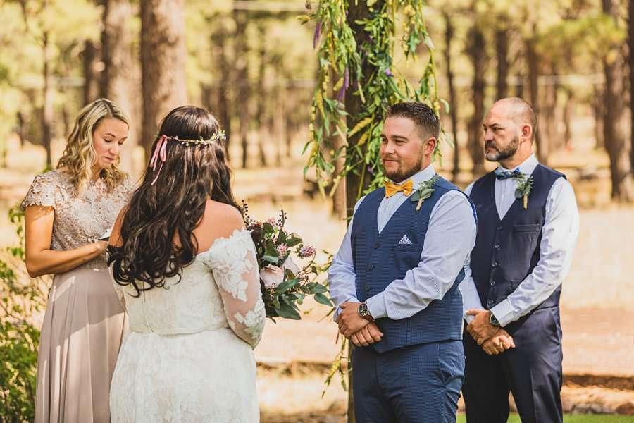 Lexi and Garrett: Northern Arizona Wedding Venues smiling