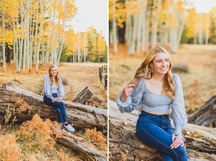 Frances: Arizona Snowbowl Portrait Photographer young woman