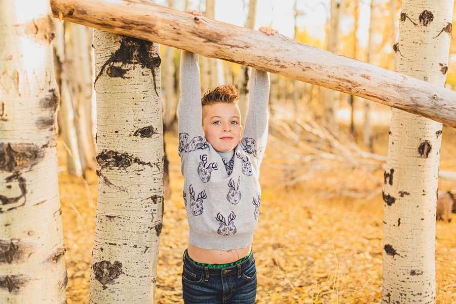 Hauser Family: Arizona Autumn Family Photography little man