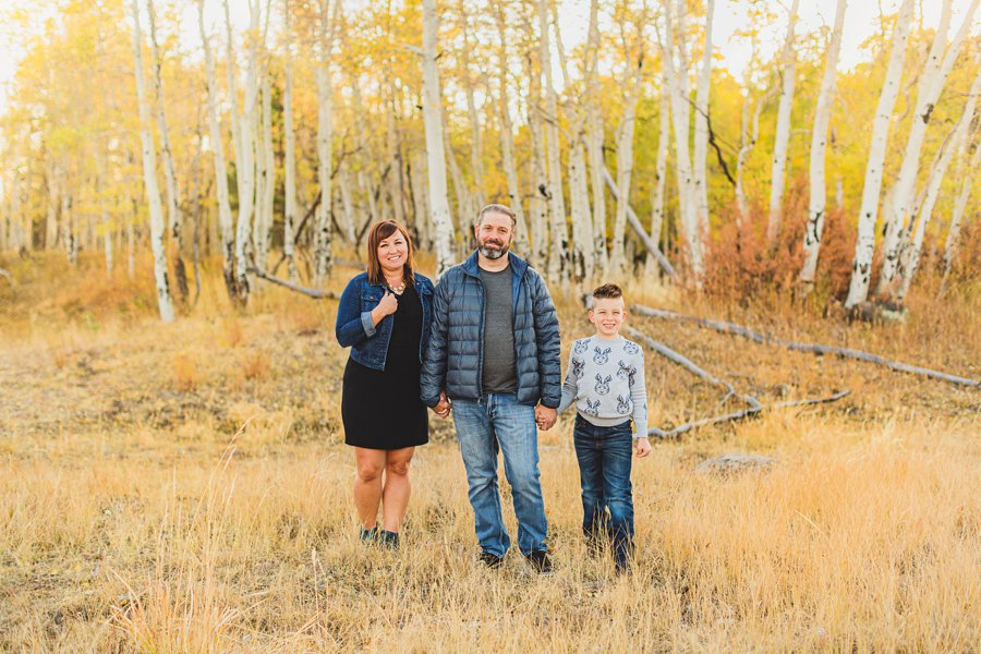 Hauser Family: Flagstaff Aspen Portrait Photographers autumn colors