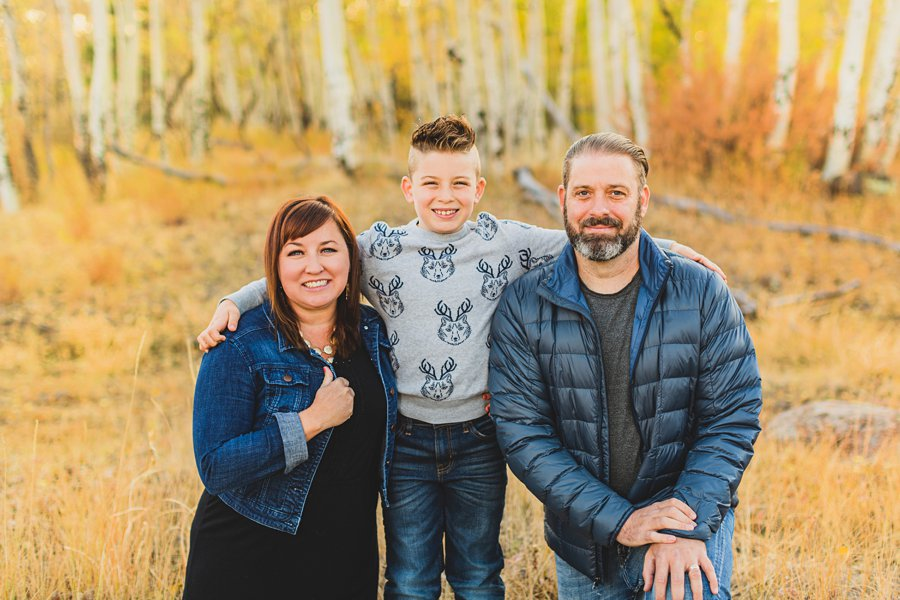 Hauser Family: Flagstaff Aspen Portrait Photographers happy family