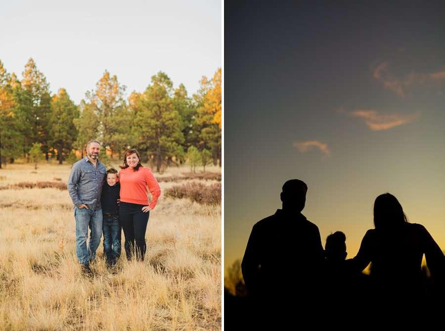 Hauser Family: Arizona Autumn Family Photography sunset silhouette