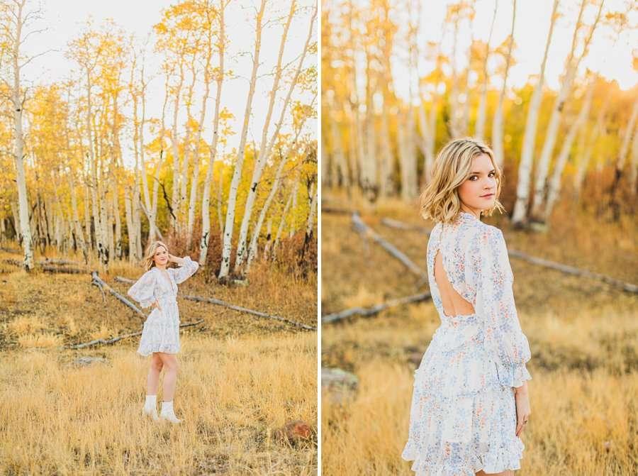 Kaia: Senior Photography Northern Arizona looking over sholder