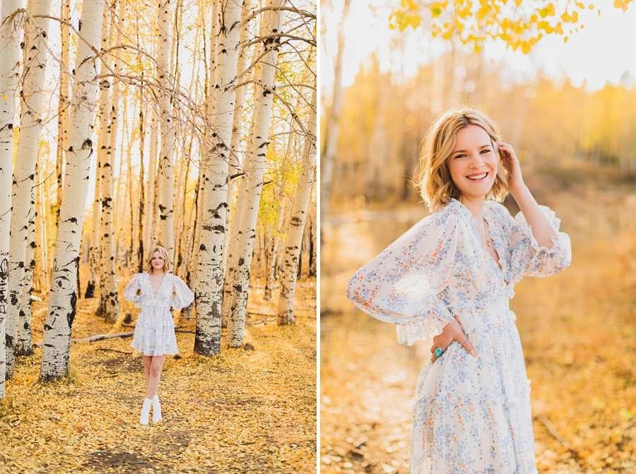 Kaia: Senior Photography Northern Arizona aspens