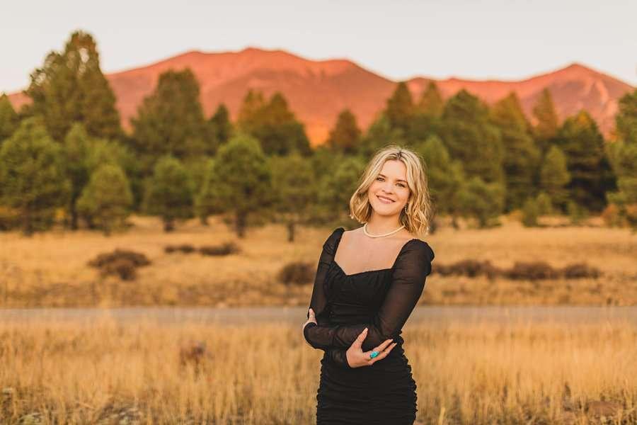 Kaia: Senior Photography Northern Arizona mountain