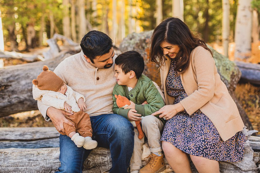 Khaznadar Family: Aspen Corner Portrait Photography tickles and cuddles