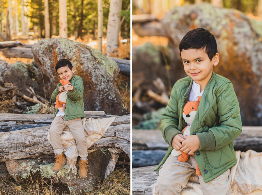 Khaznadar Family: Aspen Corner Portrait Photographer little man