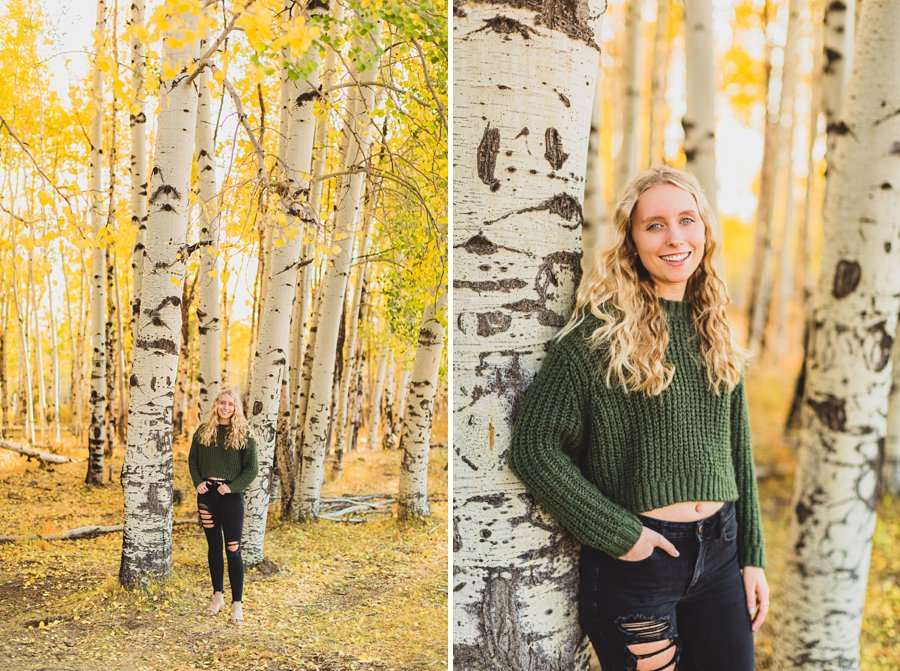 Layne and Sophie: Autumn Portrait Sessions Flagstaff hand in pocket