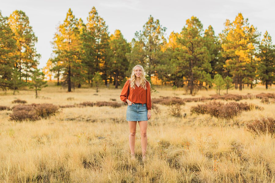 Layne and Sophie: Northern Arizona Fall Photography in the meadow