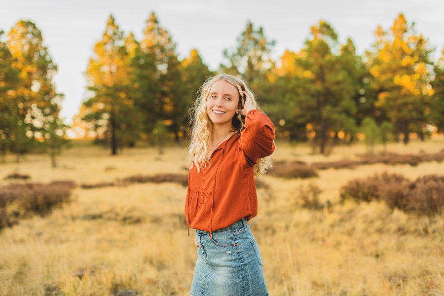 Layne and Sophie: Northern Arizona Fall Photography poses for girls