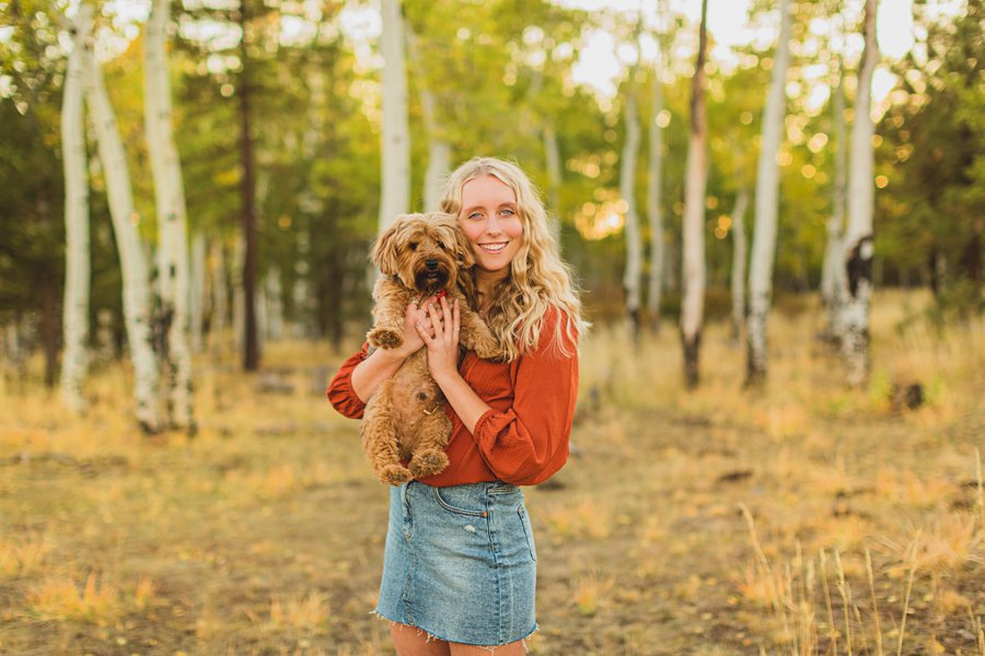 Layne and Sophie: Northern Arizona Fall Photography dogs