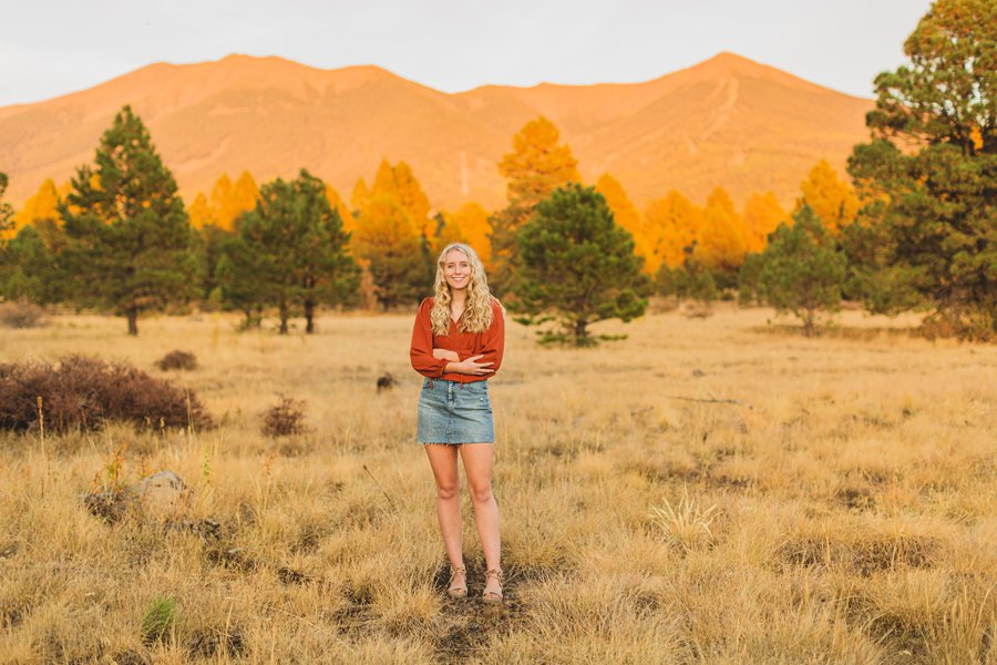 Layne and Sophie: Northern Arizona Fall Photography sunsets